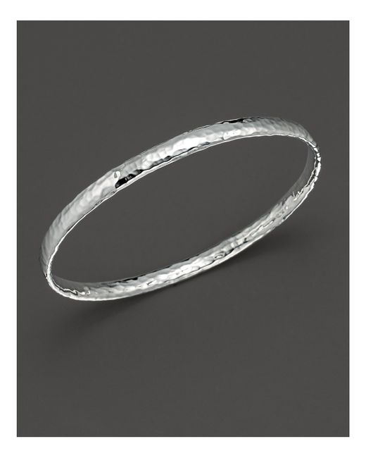 Ippolita | Metallic Sterling Silver Basic Hammered Bangle | Lyst