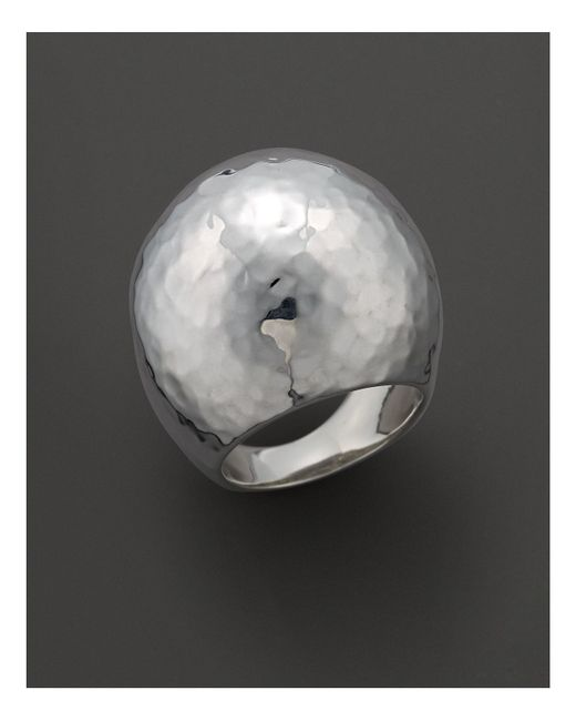 Ippolita | Metallic Sterling Silver Large Hammered Dome Ring | Lyst