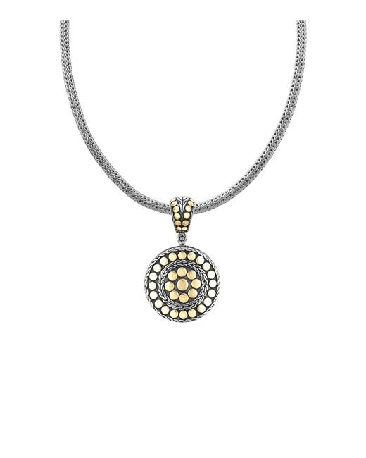 "John Hardy | Metallic ""dot Deco"" Gold And Silver Round Enhancer 