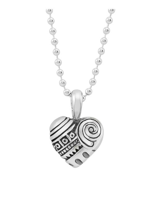 "Lagos | Metallic ""heart Of Philadelphia"" Necklace, 34"" 