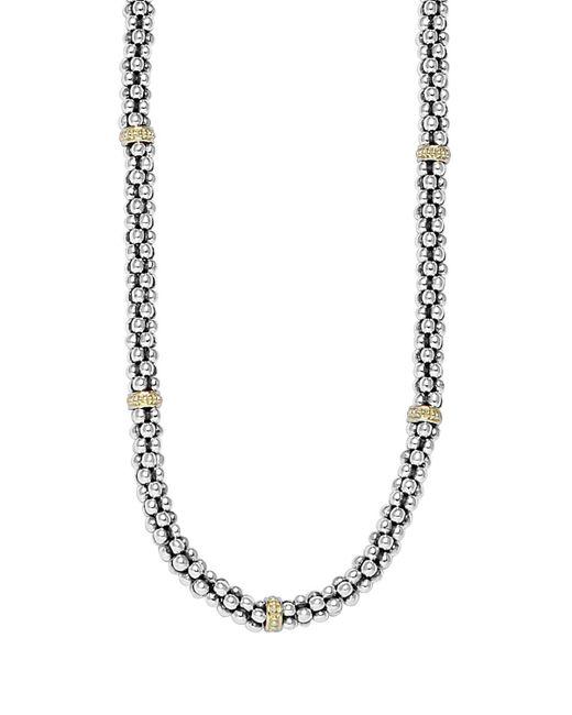 Lagos | Metallic Caviar-rope Necklace | Lyst