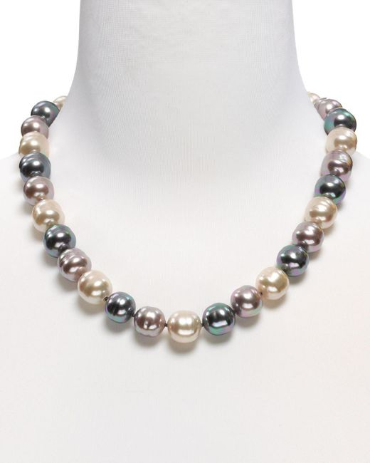 "Majorica   Multicolor Baroque Simulated Pearl Necklace, 20""   Lyst"