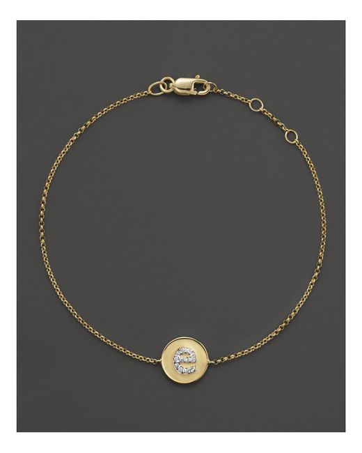 KC Designs - Metallic Diamond Pavé Initial Bracelet - Lyst