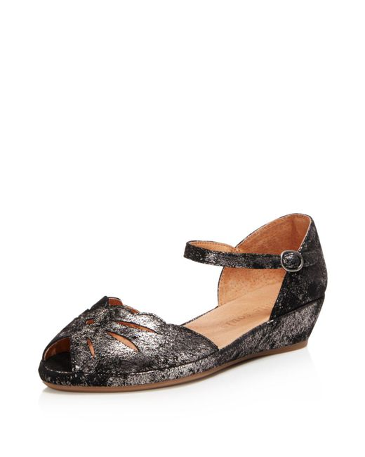 Gentle Souls | Multicolor Women's Lily Moon Leather Wedge Flats | Lyst