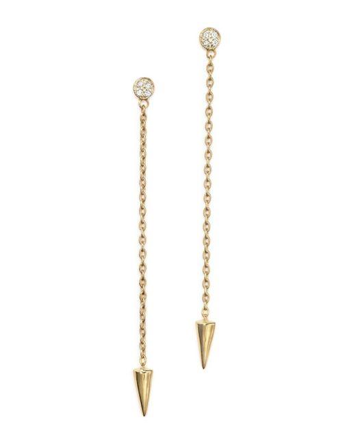 KC Designs - Metallic Diamond Spike Drop Earrings In 14k Yellow Gold - Lyst