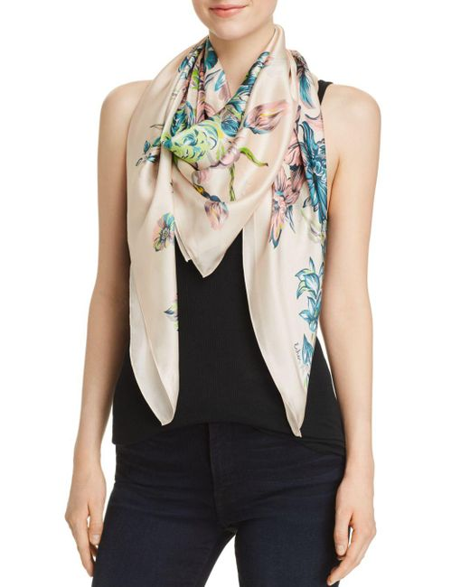 Echo - Multicolor Adelaide Floral Silk Square Scarf - Lyst