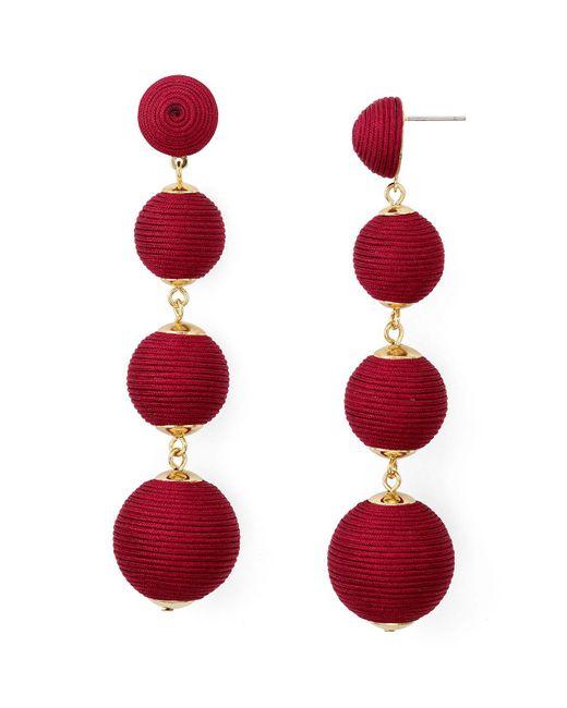 Aqua   Red Margot Ball Drop Earrings   Lyst