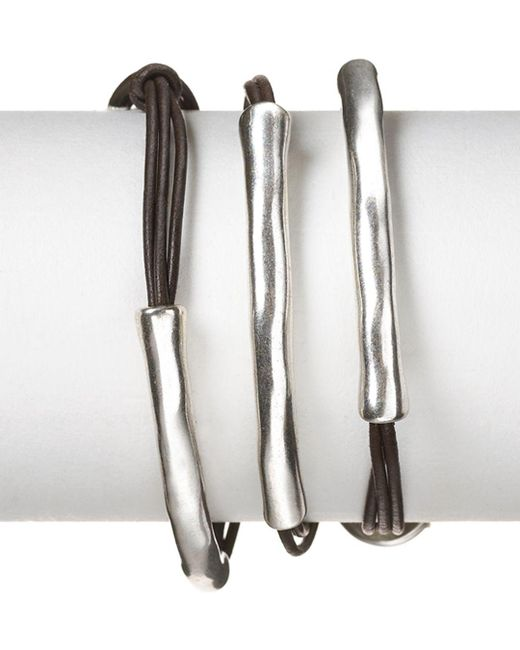 Uno De 50 - Metallic Not To Be Wrap Bracelet - Lyst