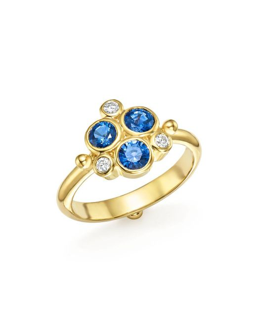 Temple St. Clair - Metallic 18k Yellow Gold Sapphire And Diamond Trio Ring - Lyst
