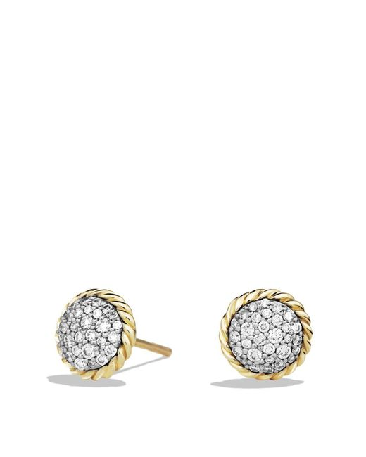 David Yurman | Metallic Châtelaine Earrings With Diamonds In 18k Gold | Lyst