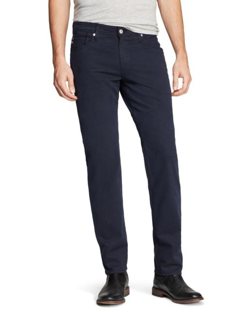 AG Jeans Blue Graduate New Tapered Fit Twill Pants for men