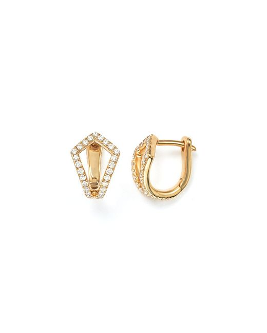 Dana Rebecca | Metallic Sarah Leah Diamond Huggie Earrings | Lyst