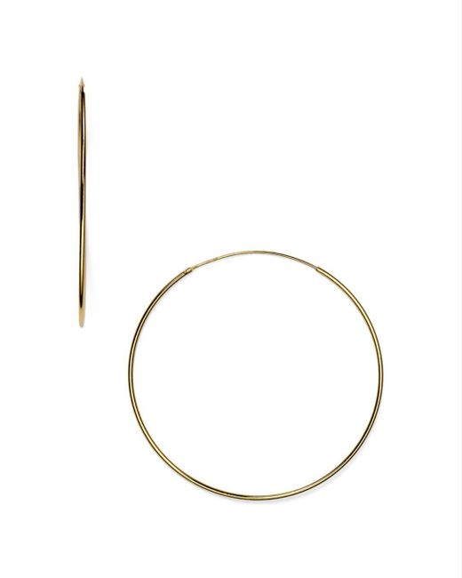 Argento Vivo - Metallic Endless Hoop Earrings - Lyst