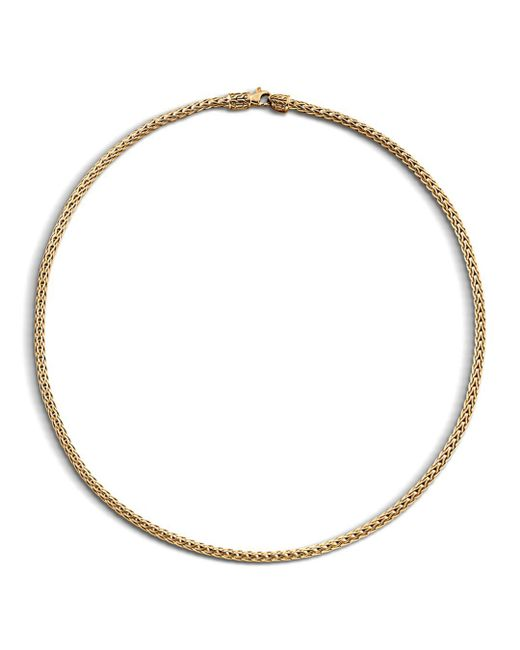 "John Hardy - Metallic Classic Chain 18k Yellow Gold Slim Necklace, 18"" - Lyst"