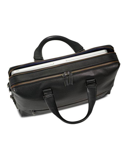 32578dd15f48 ... Tumi - Black Harrison Leather Horton Double Zip Briefcase for Men - Lyst  ...
