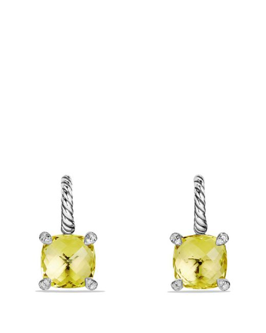 David Yurman - Yellow Châtelaine Drop Earrings With Lemon Citrine And Diamonds - Lyst