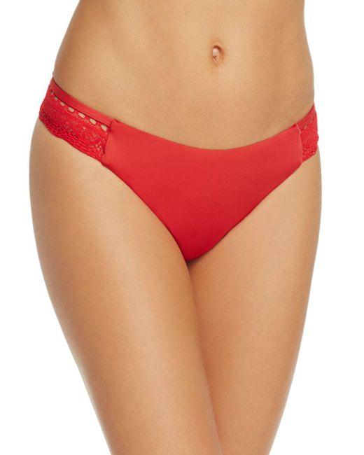Laundry by Shelli Segal - Red Crochet Hipster Bikini Bottom - Lyst