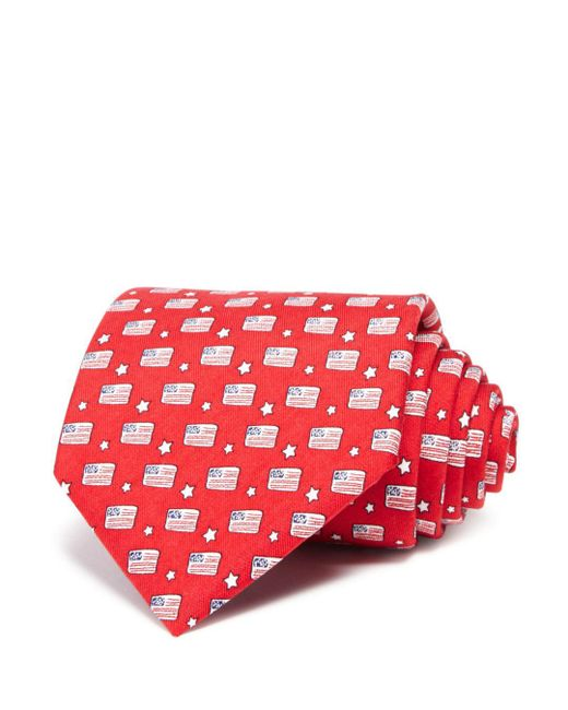 Vineyard Vines - Red Flags And Stars Classic Tie for Men - Lyst