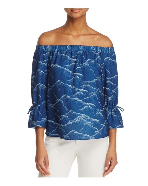 Cooper & Ella | Blue Willa Off-the-shoulder Top | Lyst