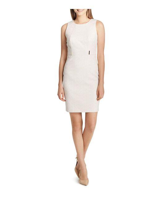 CALVIN KLEIN 205W39NYC - White Animal Print Sheath Dress - Lyst