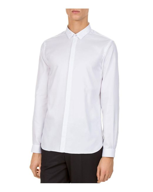 The Kooples - White Signature Royal Slim Fit Button-down Shirt - Lyst