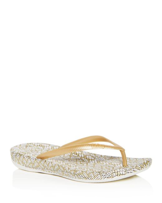 Fitflop - Multicolor Women's Iqushion Snake Print Flip-flops - Lyst