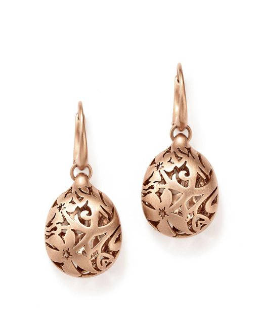 Pomellato - Multicolor Arabesque Earrings In 18k Matte Rose Gold - Lyst