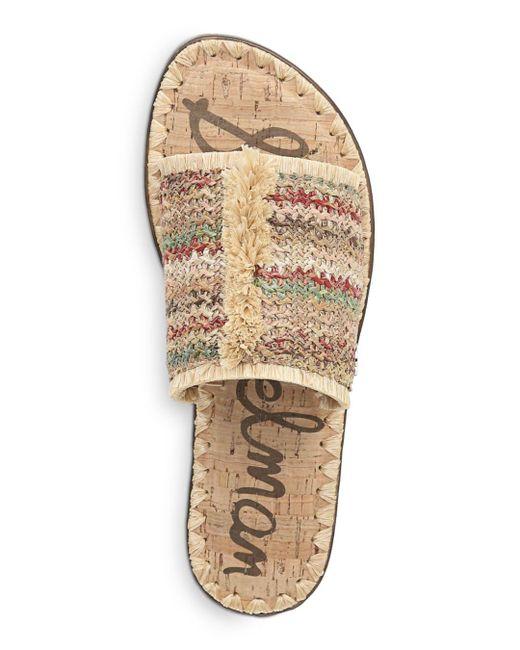 30860bb8c ... Sam Edelman - Multicolor Women s Glenda Raffia Frayed Slide Sandals ...