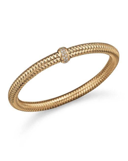 Roberto Coin - Metallic 18k Yellow Gold Primavera Stretch Bracelet With Diamonds - Lyst