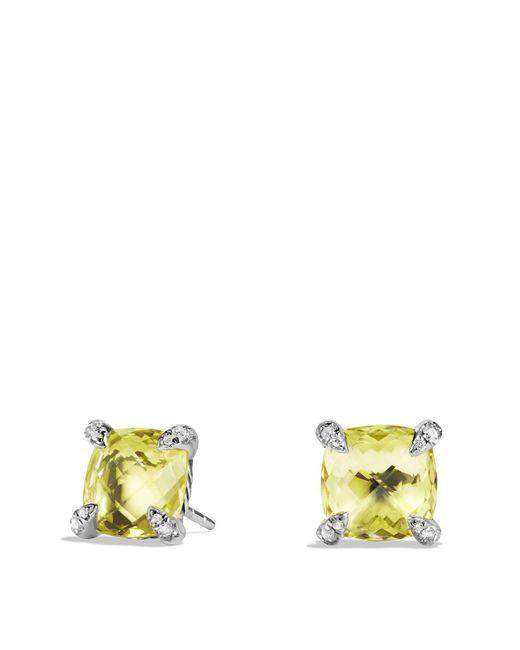 David Yurman | Metallic Châtelaine Earrings With Lemon Citrine And Diamonds | Lyst