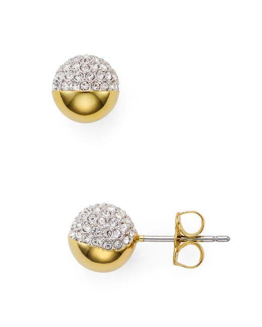 Nadri | Metallic Pavé Ball Stud Earrings | Lyst