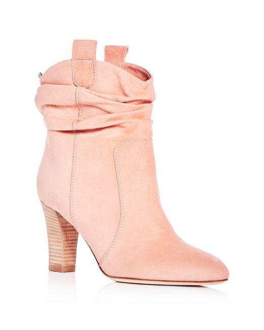 SJP by Sarah Jessica Parker | Pink Women's Sloan Suede High Heel Booties | Lyst