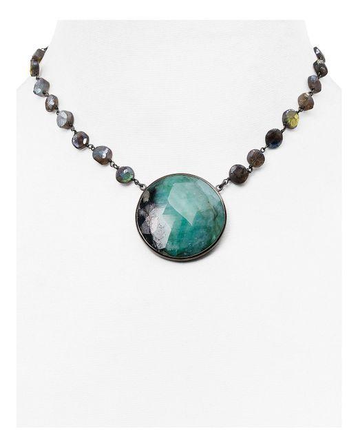 Ela Rae | Metallic The Morah Emerald Choker Necklace | Lyst