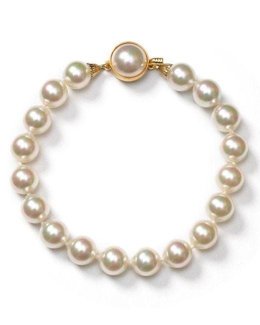 Majorica - White Simulated Pearl Bracelet - Lyst