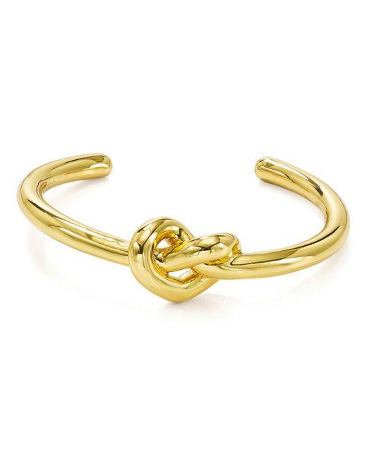 d12db53b8 Kate Spade - Metallic Loves Me Knot Cuff Bracelet - Lyst ...