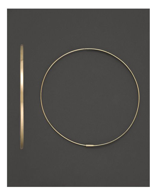 Lana Jewelry | Metallic 14k Yellow Gold Large Flat Magic Hoop Earrings | Lyst
