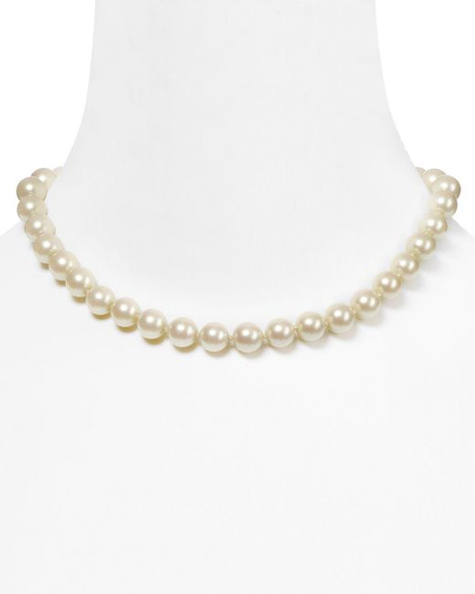 Carolee | White Imitation Pearl Necklace, 18"