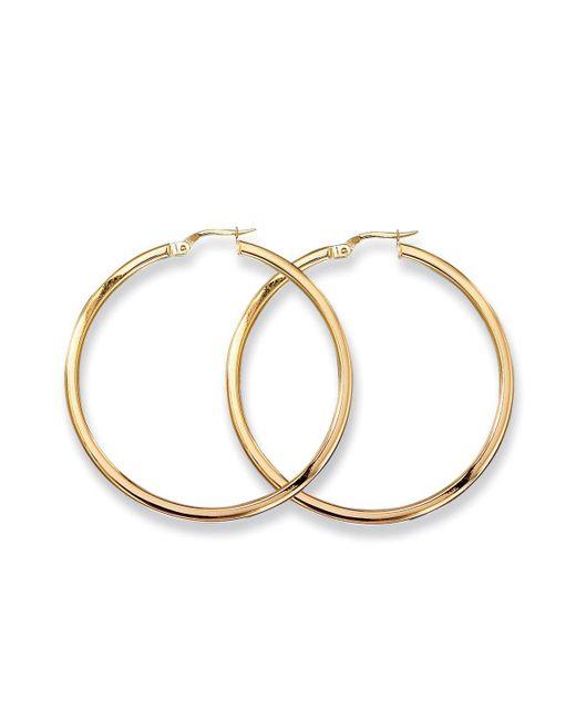 Roberto Coin   Metallic Medium 18k Yellow Gold Hoop Earrings   Lyst