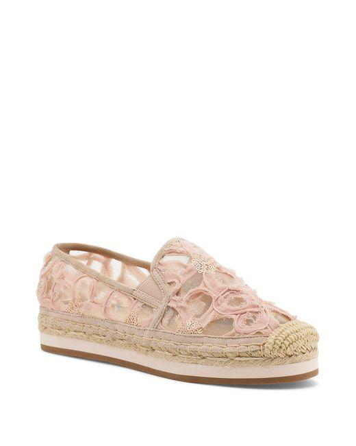 Botkier - Pink Sara Embroidered Platform Espadrille Flats - Lyst