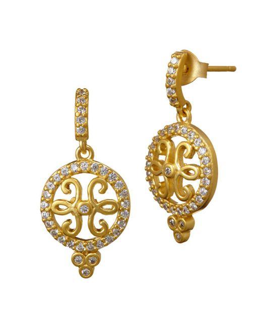 Freida Rothman - Metallic Open Filigree Drop Earrings - Lyst