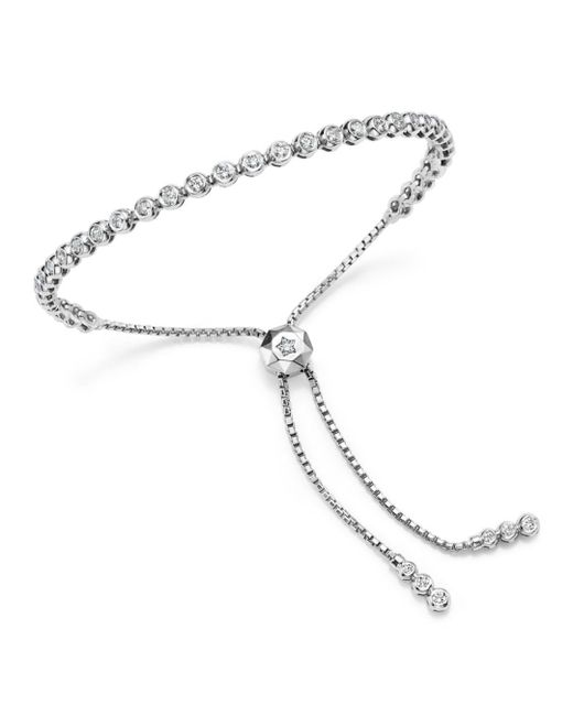 Bloomingdale's - Diamond Bezel Tennis Bolo Bracelet In 14k White Gold, 1.20 Ct. T.w. - Lyst