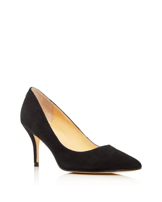Ivanka Trump | Black Tirra Suede Pointed Toe Pumps | Lyst