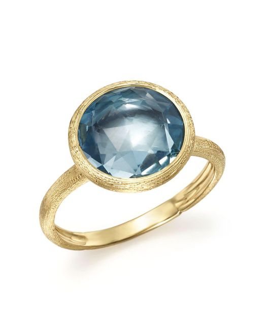 Marco Bicego - Metallic 18k Yellow Gold Jaipur Ring With Blue Topaz - Lyst