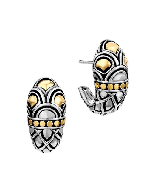 John Hardy - Metallic Sterling Silver & 18k Gold Naga Shrimp Earrings - Lyst