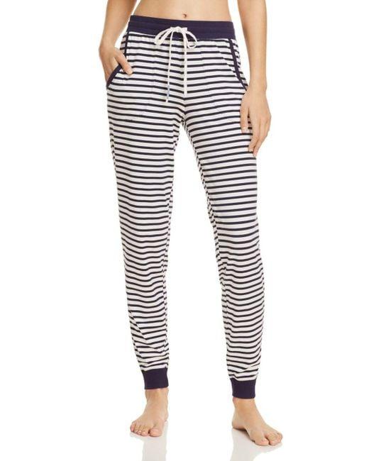 Jane & Bleecker New York - Blue Striped Jogger Pants - Lyst