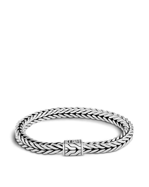 John Hardy | Metallic Men's Sterling Silver Small Square Chain Bracelet for Men | Lyst