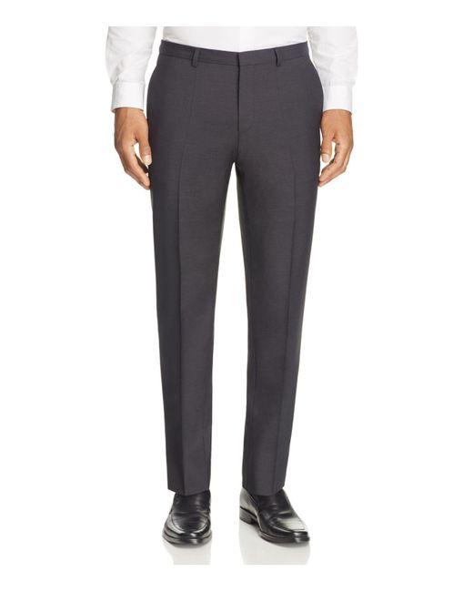 HUGO | Black Hets Slim Fit Trousers for Men | Lyst