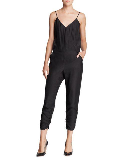 Parker - Black Liv Silk Jumpsuit - Lyst