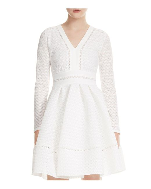 Maje - White Rossignol Lace Dress - Lyst