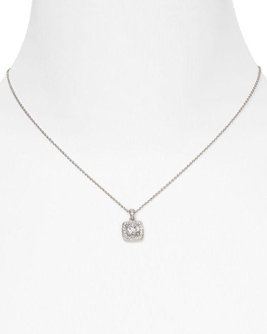 "Nadri | Metallic Framed Cushion Pendant Necklace, 16"" | Lyst"